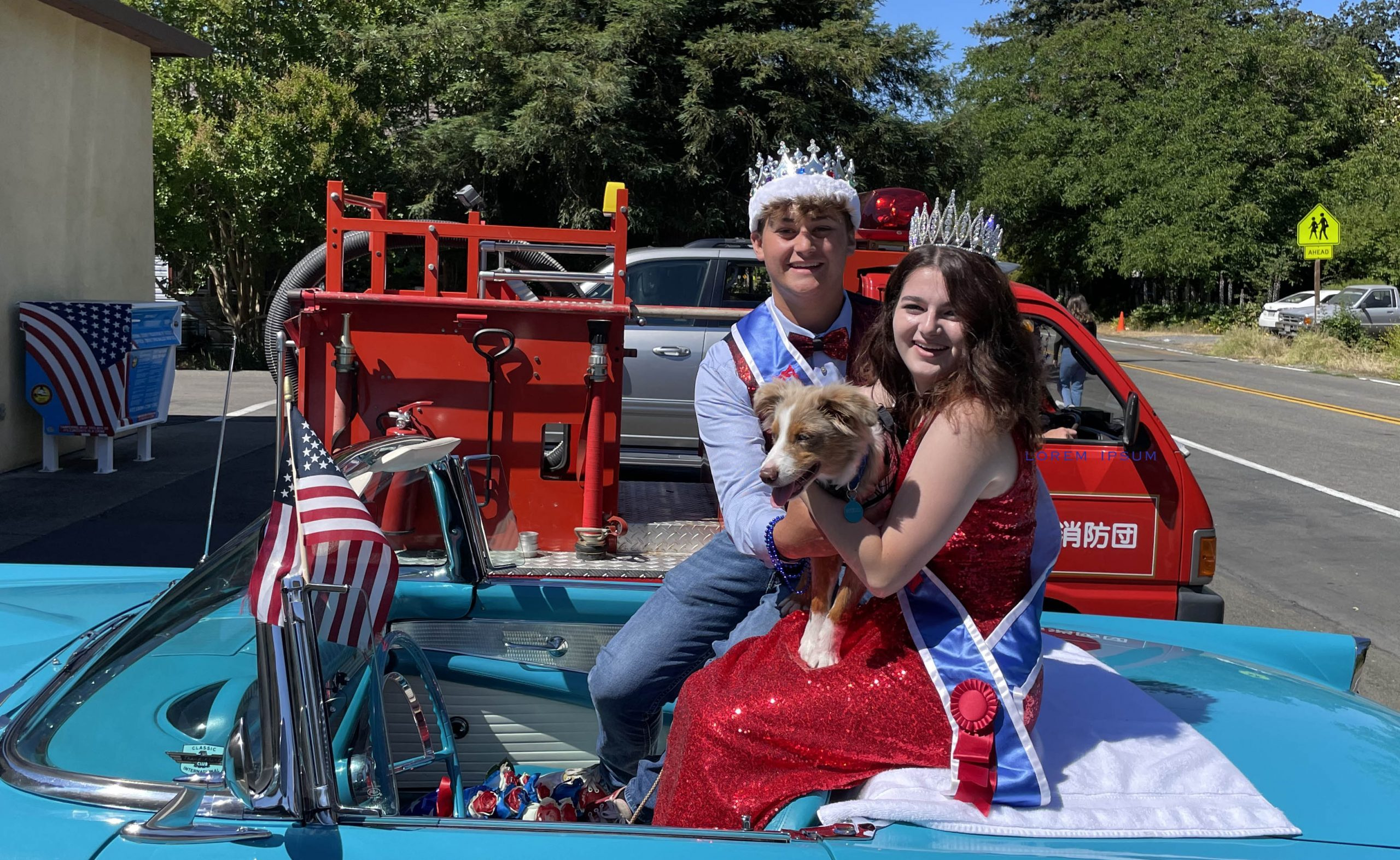 Kenwood Royal Court and FD lead unofficial July 4th parade